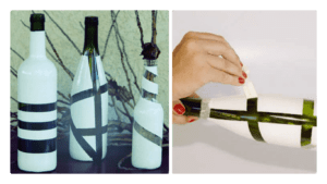 Как легко превратить стеклянную бутылку в вазу
