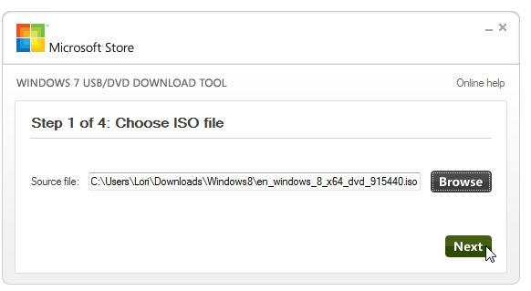 Windows 7 USB/DVD Download Tool 1.0.30.0