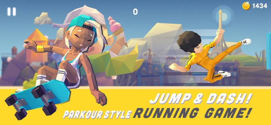 Smashing Rush: Parkour Action Run Game
