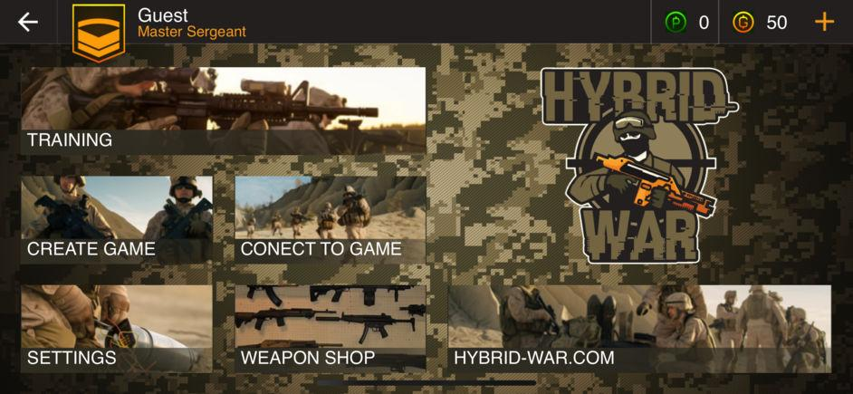 Hybrid War - AR: Шутер в Дополненной Реальности