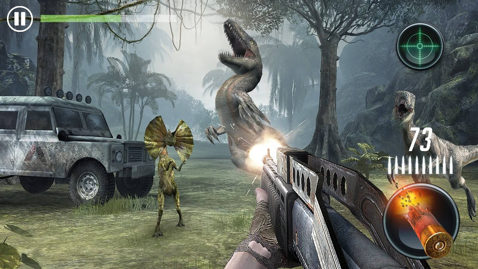 Jurassic Missions: shooting games